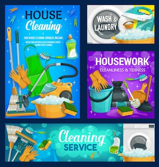 House cleaning service, home cleaners, household housework and laundry.