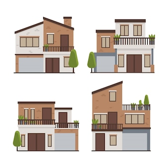 House collection illustration concept