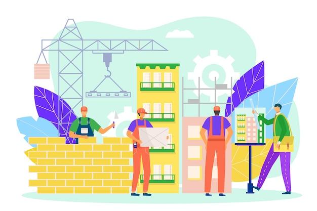 Строительство дома,. концепция домашних строительных работ, развитие строителей