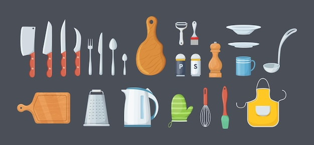 House cookware utensils for cooking metallic and ceramic kitchen crockery