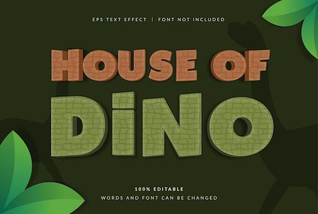 House of dinosaur text effect
