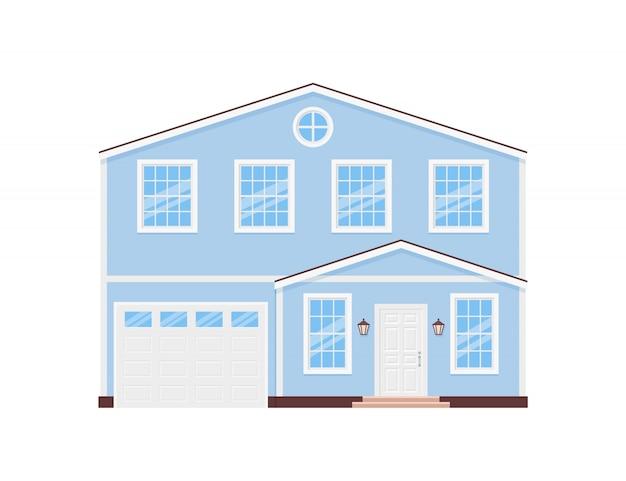 家の外観、モダンな住宅コテージ、家の正面、