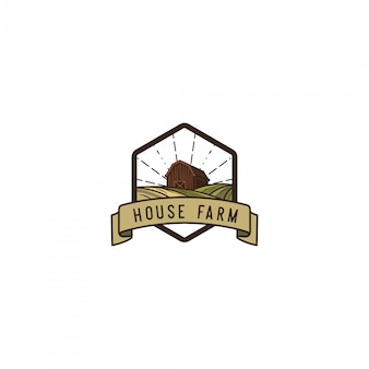 House farmer vintage logo