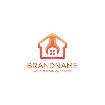 House fix renovation logo