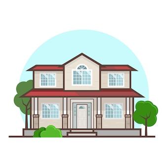 Плоский дизайн дома