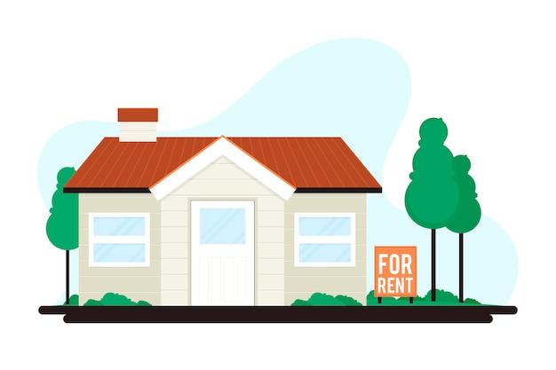 サイン付きの賃貸住宅