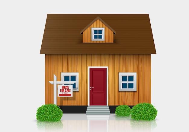 Дом для продажи иллюстрации