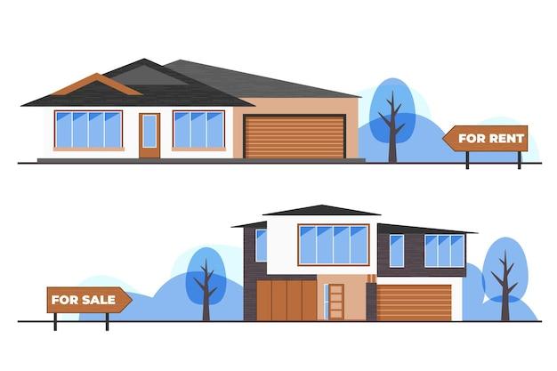 판매 / 임대 개념을위한 집