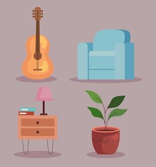 家の家具の要素