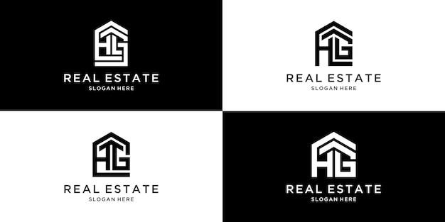 頭文字のhgデザインの家のグループのロゴ