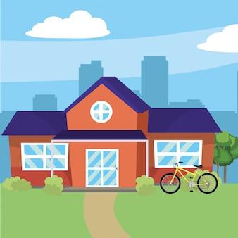 House home cartoon illustration