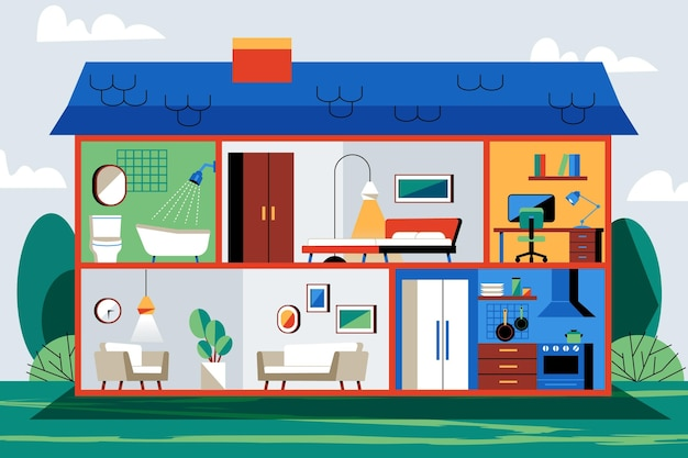 断面概念の家
