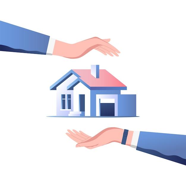 Иллюстрация концепции страхования дома