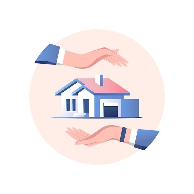 住宅保険のコンセプト。安全とセキュリティサービス。
