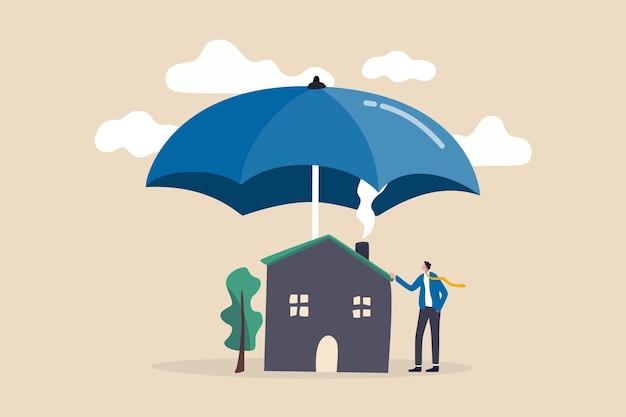 Страхование дома, концепция страхования дома от бедствий