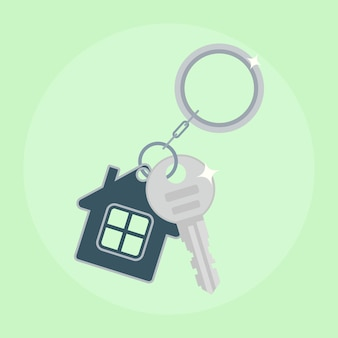 家の鉄の鍵。家の購入、不動産の賃貸