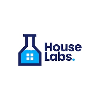 House lab home laboratory logo