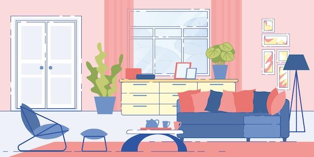 House living room cozy interior