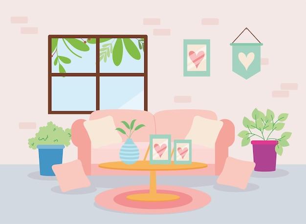 House livingroom home decoration scene