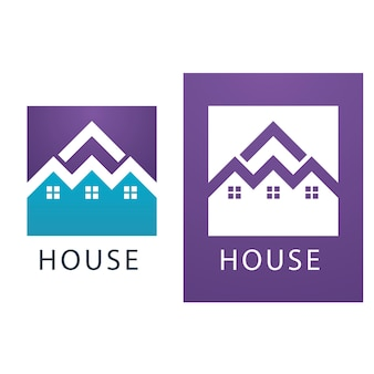 家のロゴとシンボルのベクトル画像