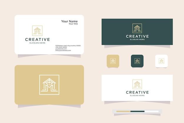 House logo design, letter