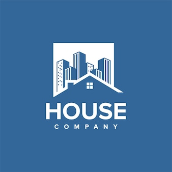 House logo design with buildings