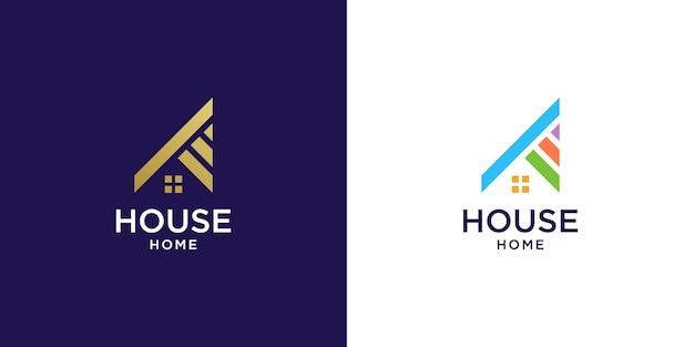 Логотип дома для недвижимости