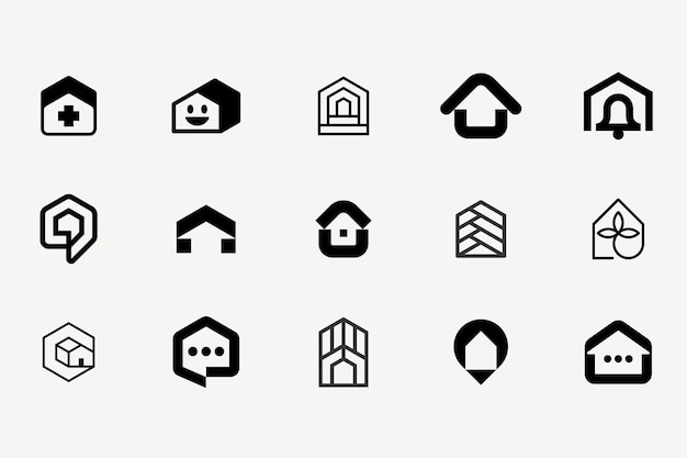 House logo modern icon brand mark
