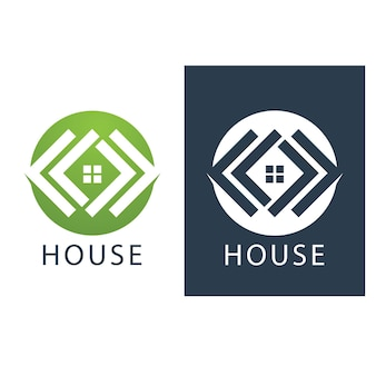 House logo and symbol vector image