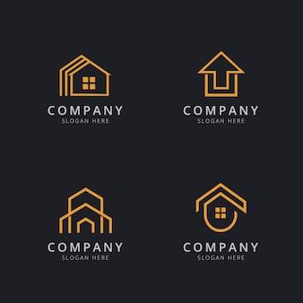 家のロゴのテンプレートデザイン