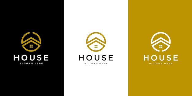 Шаблон оформления векторных логотип дома