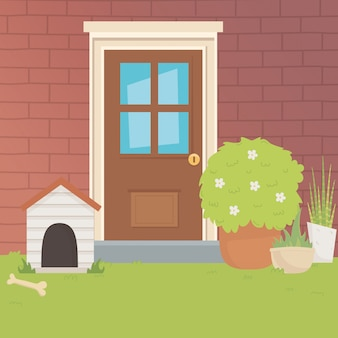 House for mascot design vector illustrator
