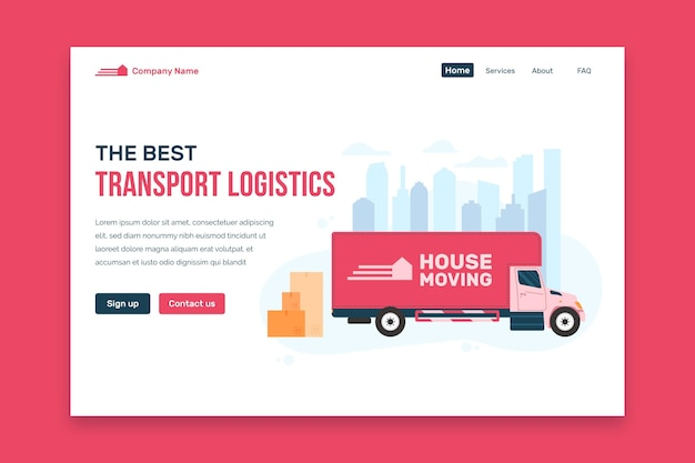 House moving services landing page design
