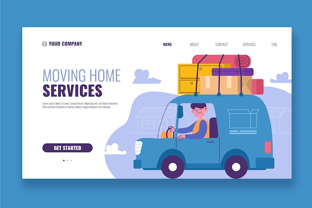 House moving services landing page