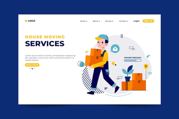 House moving services - landing page