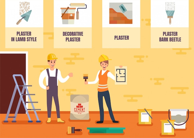 House painter and plasterer service vector