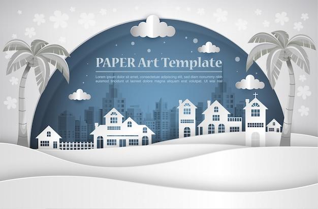 House paper art