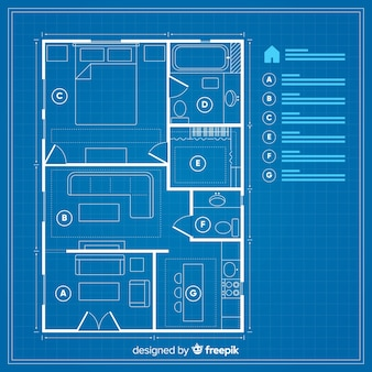 House plan with blueprint concept
