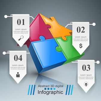 House puzzle icon. business infographic.