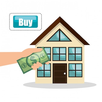 House real estate buy bill design