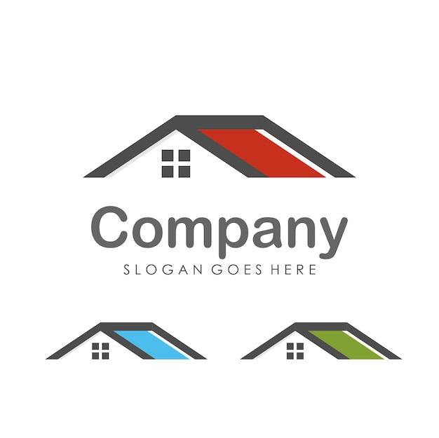 House and real estate logo design template