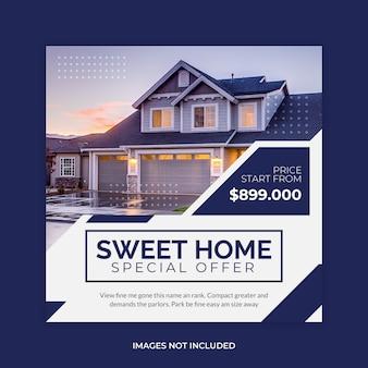 House real estate sale social media
