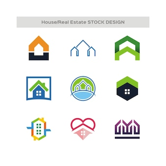 House and real estate stock design logo