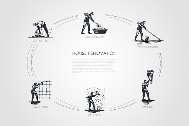 Иллюстрация концепции ремонта дома