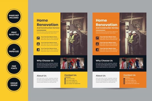 House renovation flyer templates