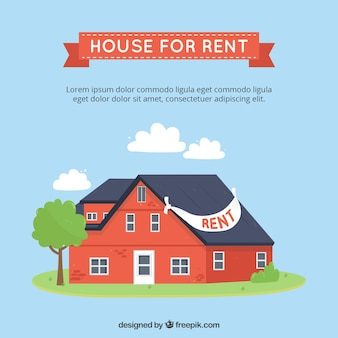 House for rent background