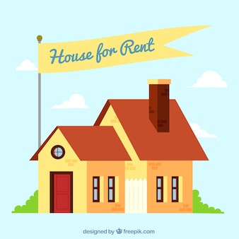 House for rent concept background