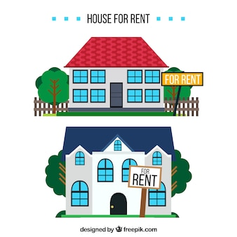 House for rent in flat design