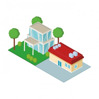 House residences isometric