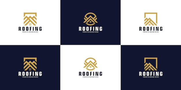 집 지붕 로고 디자인 영감 컬렉션